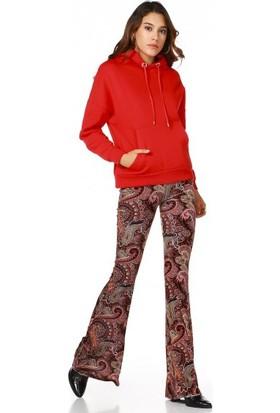 Bsl Fashion Kırmızı Sweatshirt 9549