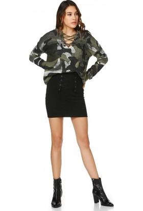 Bsl Fashion Siyah Etek 9537