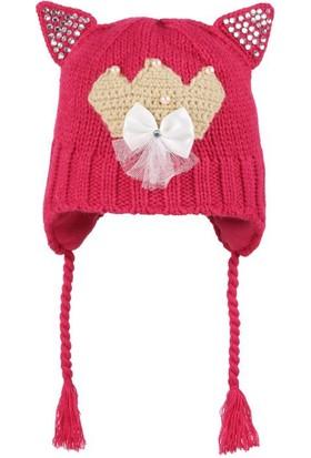 Kitti Kız Çocuk Kulaklı Bere 1 - 4 Yaş Fuji K667