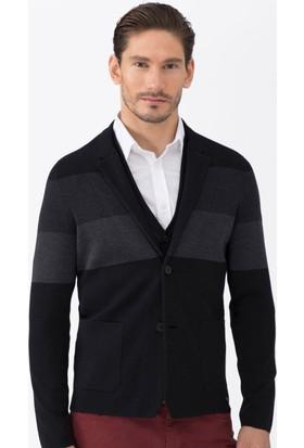 Hemington Siyah Triko Yün Ceket