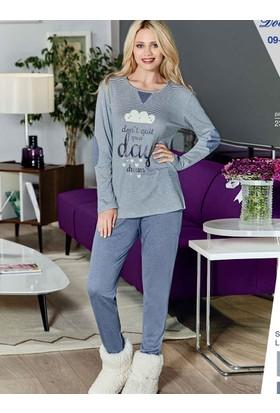 Dowry 09-695 Kışlık Bayan Pijama Takımı