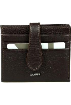 Grande 00718 Hakiki Deri Kartlık Kahverengi