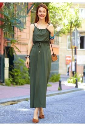 Femme Kemerli Askılı Elbise