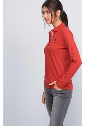 U.S. Polo Assn. Kadın Tpg-Sk07 Sweatshirt Kırmızı