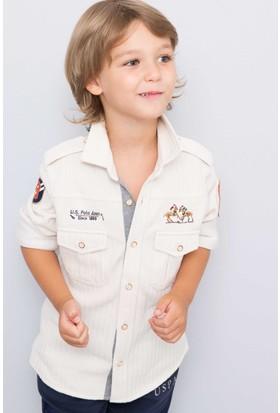 U.S. Polo Assn. Erkek Çocuk Wade Sweatshirt Bej