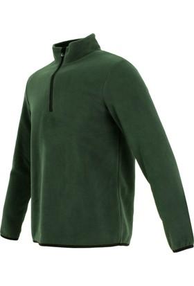 Exuma Erkek Yarım Fermuar Polar Yeşil 281201