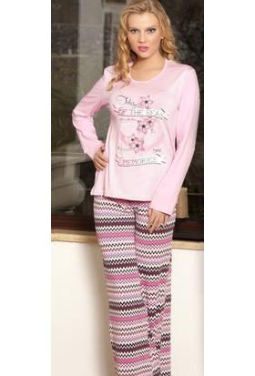 Miss Liska Uzun Kollu Pijama Takım 1015