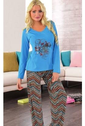 Miss Liska Uzun Kollu Pijama Takım 1116