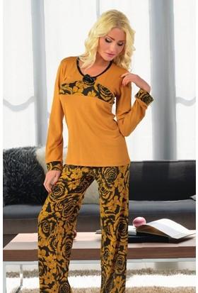 Miss Liska Uzun Kollu Pijama Takım 1234