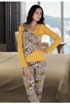 Miss Liska Uzun Kollu Pijama Takım 1290