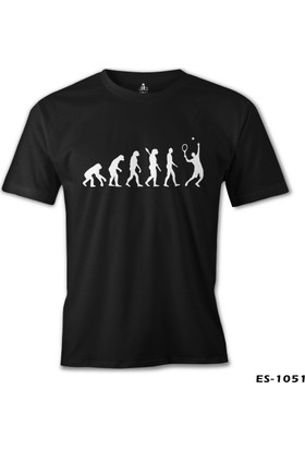 Lord T-Shirt Tenis Player Evolution Siyah Erkek T-Shirt