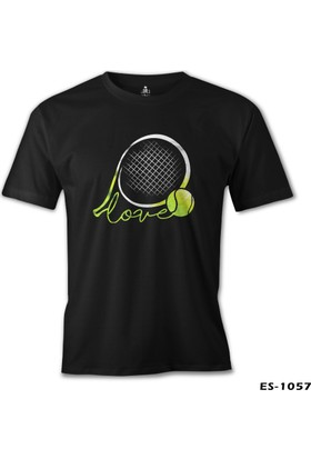 Lord T-Shirt Tenis - Love the Ball Siyah Erkek T-Shirt