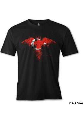 Lord T-Shirt Kartal Ay Yıldız Siyah Erkek T-Shirt