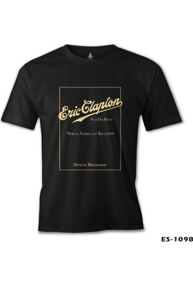 Lord T-Shirt Eric Clapton and His Band Siyah Erkek T-Shirt