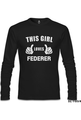 Lord T-Shirt Tenis - Love Federer Siyah Erkek Sweatshirt