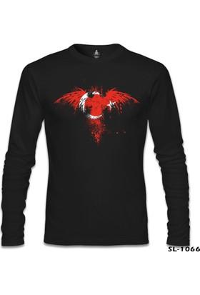 Lord T-Shirt Kartal Ay Yıldız Siyah Erkek Sweatshirt