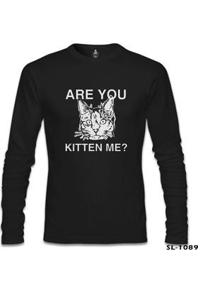Lord T-Shirt Are You Kitten Me Siyah Erkek Sweatshirt