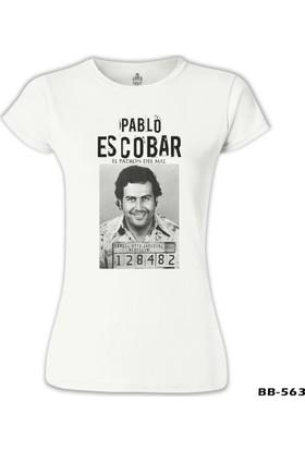 Lord T-Shirt Pablo Escobar - 128482 Beyaz Kadın T-Shirt
