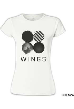 Lord T-Shirt BTS - Wings Logo Beyaz Kadın T-Shirt