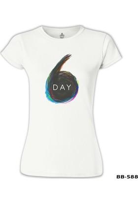Lord T-Shirt Day6 - Logo Beyaz Kadın T-Shirt