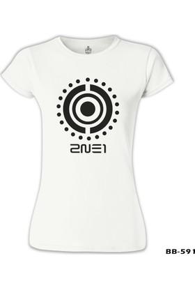 Lord T-Shirt 2NE1 - Logo 2 Beyaz Kadın T-Shirt