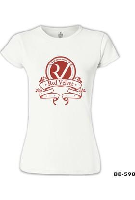Lord T-Shirt Red Velvet - Logo Beyaz Kadın T-Shirt