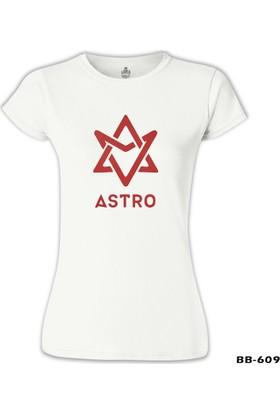 Lord T-Shirt Astro - Logo Beyaz Kadın T-Shirt