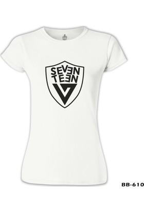 Lord T-Shirt Seventeen - Logo Arma Beyaz Kadın T-Shirt