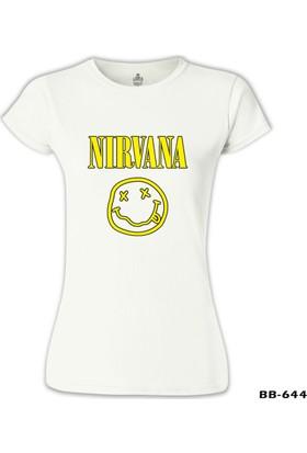 Lord T-Shirt Nirvana - Logo 2 Beyaz Kadın T-Shirt
