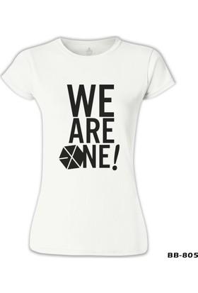 Lord T-Shirt EXO - We are One Beyaz Kadın T-Shirt