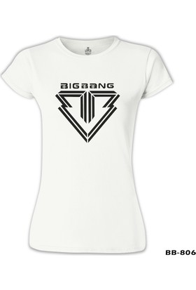 Lord T-Shirt Big Bang - Logo Beyaz Kadın T-Shirt
