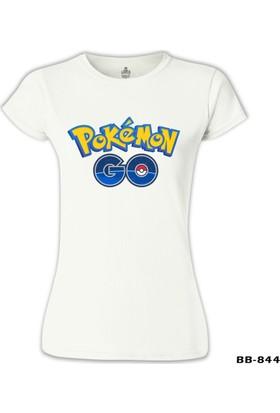 Lord T-Shirt Pokemon Go - Logo Beyaz Kadın T-Shirt