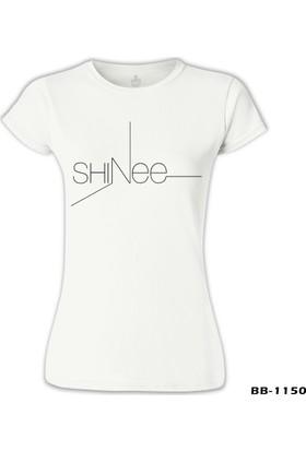 Lord T-Shirt Shinee - Logo Beyaz Kadın T-Shirt