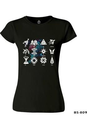 Lord T-Shirt EXO - Signs Siyah Kadın T-Shirt
