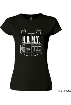 Lord T-Shirt BTS - Army Siyah Kadın T-Shirt