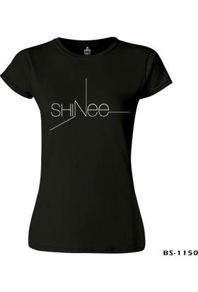 Lord T-Shirt Shinee - Logo Siyah Kadın T-Shirt