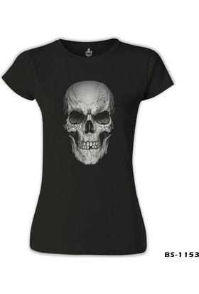 Lord T-Shirt Kurukafa - Smile Siyah Kadın T-Shirt