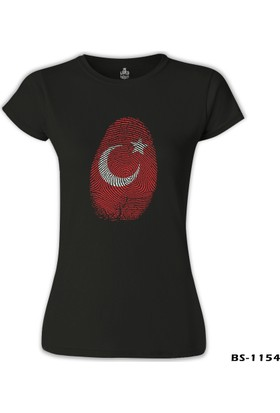 Lord T-Shirt DNA'mızda Var - Ay Yıldız Siyah Kadın T-Shirt