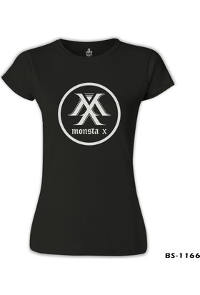 Lord T-Shirt Monsta X - Logo Siyah Kadın T-Shirt
