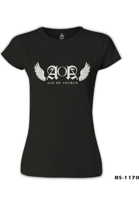 Lord T-Shirt AOA - Wings Siyah Kadın T-Shirt