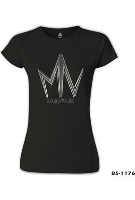 Lord T-Shirt MyName - Logo Siyah Kadın T-Shirt