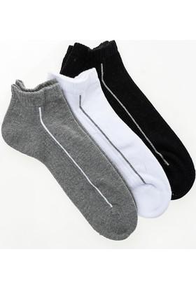 Pixter&Bro Sporty Happy Fit Erkek Üçlü Patik Çorap Set