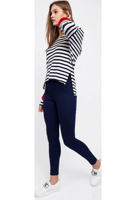 Eka Yüksek Bel Dar Paça Likralı Pantolon