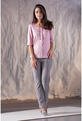 Gizzey Baskılı Kadın Pantolon Takım 20118