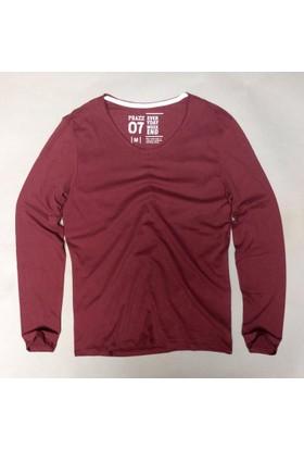 Phazz Brand Erkek U Yaka Uzun Kollu Tshirt 4105