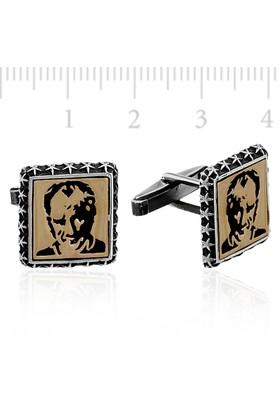 Gumush Atatürk Gümüş Kol Düğmesi