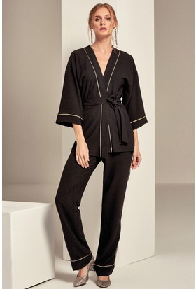 Lafaba Garni Biyeli Kimono