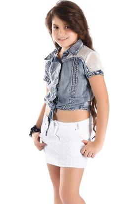 Puledro Kids Kız Çocuk Gömlek 13-7879