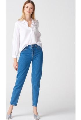 Dilvin 7267 Klasik Mom Pantolon-Lacivert