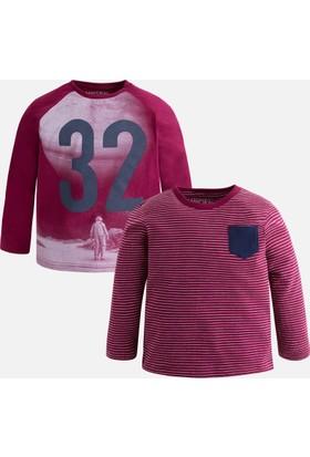 Mayoral Erkek Çocuk İkili Uzun Kol T-Shirt Seti Mor